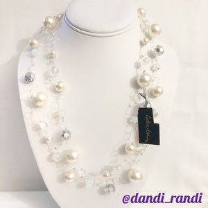 Cookie Lee Long Glass Bead Necklace NWT